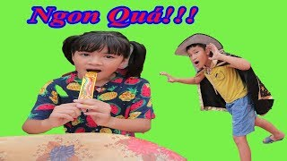 Mụ Phù Thủy Độc Ác - Cách Ăn Kẹo Chupa Chups Cầu Vồng - Thảo Nhi TV