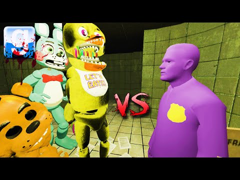 Gmod PURPLE GUY vs ANIMATRONICS ON FNAF 3 MAP! (Garry's Mod Sandbox Fun)