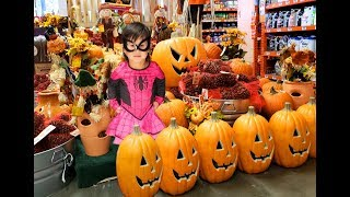 Halloween Shopping for Costumes! Trying on Spider Girl and more Kids Costumes.