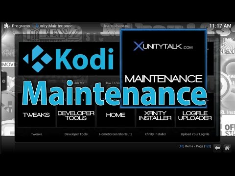How to Clear Delete Cache in KODI XBMC - Install Xunity Maintenance