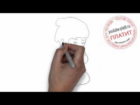 Видео как нарисовать японскую девушку