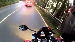 Driving to School Honda Cbr 125 [GoPro|HD]