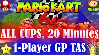 [TAS] Mario Kart 64 - All Cups - 1P, GP, 150cc in 20:33.32, twitch.tv/weatherton 4K 60fps