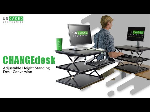 CHANGEdesk Tall Affordable Adjustable Height Standing Desk Conversion for Desktop Computers