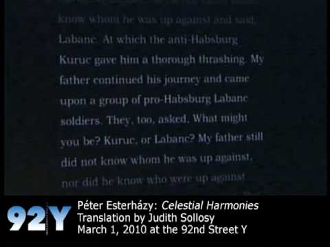 0 Péter Esterházy Reads Celestial Harmonies at the 92nd Street Y