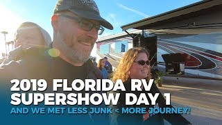 Tampa Florida RV Supershow 2019 and Meeting Less Junk More Journey!