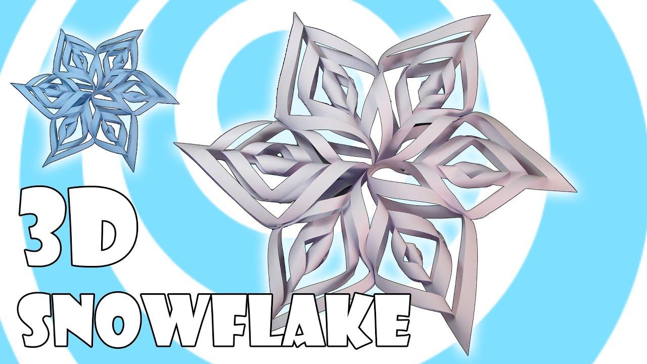 how to make a 6 sided kirigami snowflake