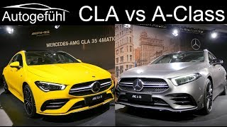 Mercedes AMG A-Class 35 Sedan vs CLA 35 AMG comparison REVIEW Exterior Interior
