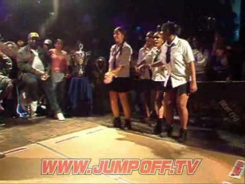 KI Dance Battle vs School Girls in Skirts