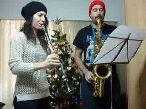Joy to the World Christmas Carol Clarinet & Tenor Sax duet