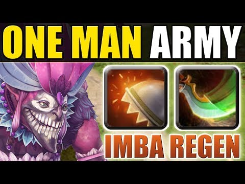 Super Tank - Imba Regen [ONE MAN ARMY] Reactive Armor + Moment of Courage | Dota 2 Ability Draft