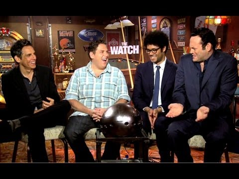 The Watch - Ben Stiller, Vince Vaughn, Jonah Hill & Richard Ayoade Interview (JoBlo.com)