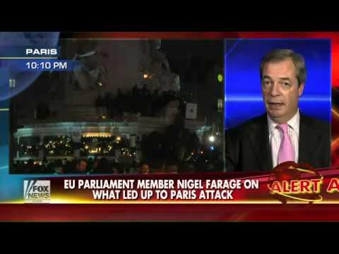 UKIP Nigel Farage on Fox News - Responding to the Paris attack?