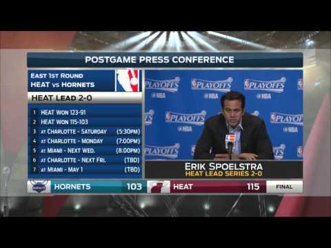Erik Spoelstra - Miami Heat vs. Charlotte Hornets postgame 4/20/16