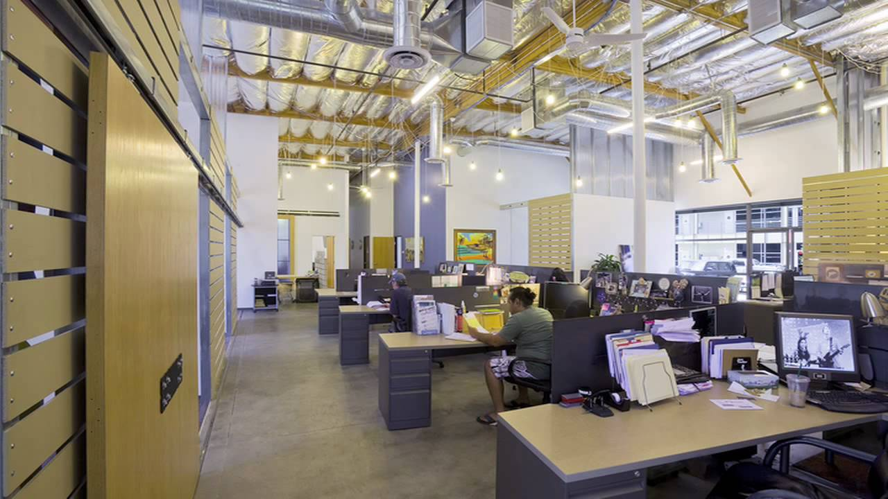 Leed gold commercial interior design at surfrider for Leed building design
