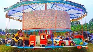 Bermain diacara pesta rakyat ADU BEDUG | Naik odong-odong dan bermain dirumah balon