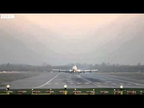 BBC News   Virgin Atlantic flight carries out  non standard  landing