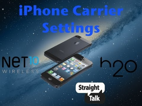How to add Carrier Settings to iPhone 5. 4. and 3Gs on iOS 6.0/6.0.1