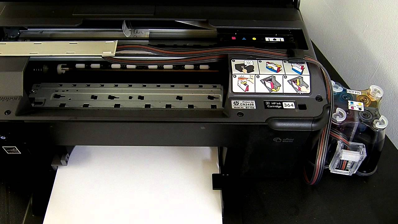 Hp Photosmart B110a Ciss Continuous Ink System Youtube