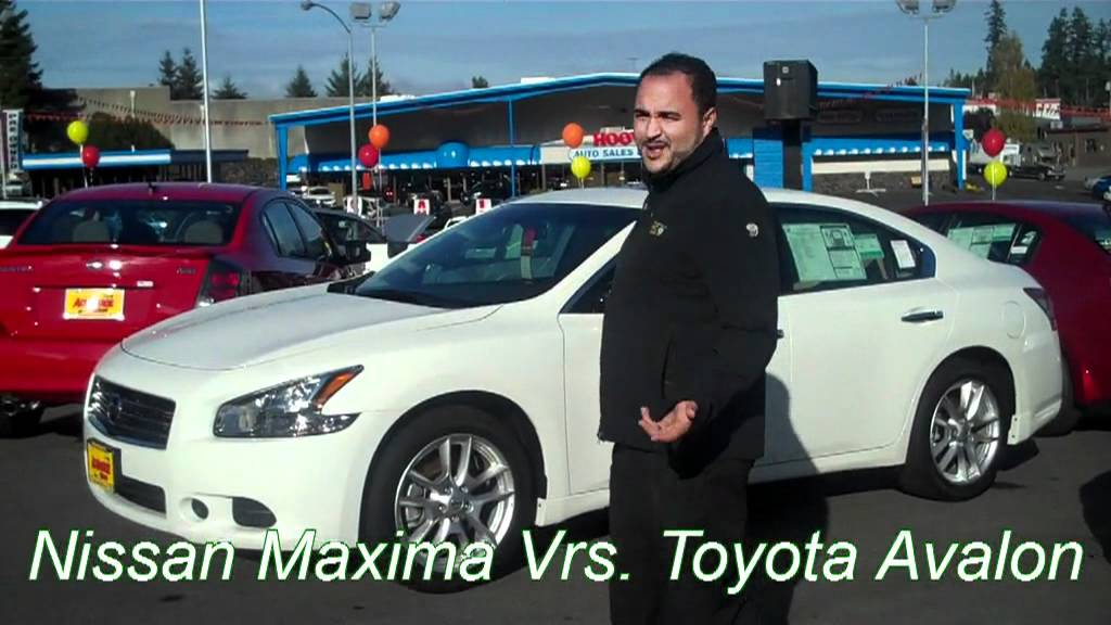 bremerton toyota avalon 2012 vs seattle nissan maxima. Black Bedroom Furniture Sets. Home Design Ideas
