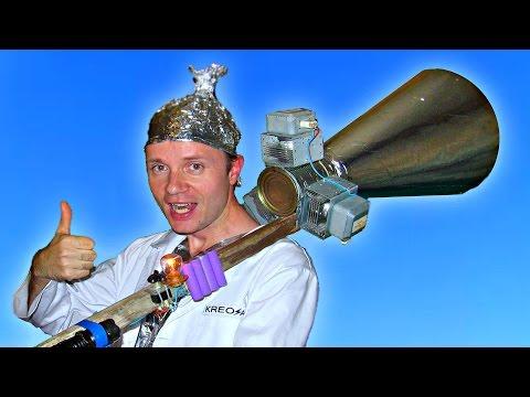 ✅Самодельная МАГНЕТРОННАЯ ПУШКА из микроволновки и электрошокера