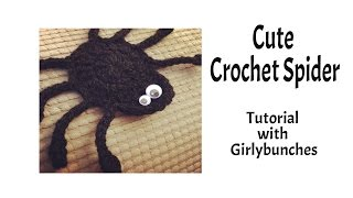 Learn to Crochet with Girlybunches - Crochet Cute Spider - Tutorial - Halloween