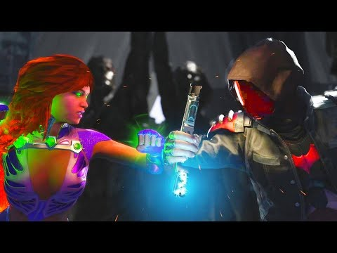 Injustice 2 - Starfire vs Red Hood All Intros, Clash Quotes And Supermoves