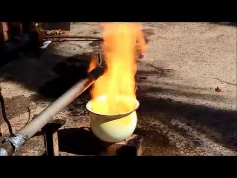 Building a Waste oil burner from Grannies Chamber Pot