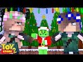 SISTER FIGHT BECAUSE OF THE GRINCH! | Minecraft Toystore |Little Kelly
