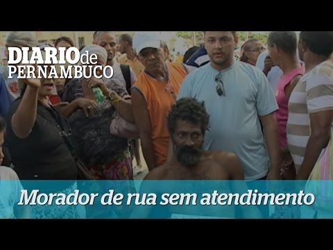 Morador de rua sofre sem atendimento do Samu
