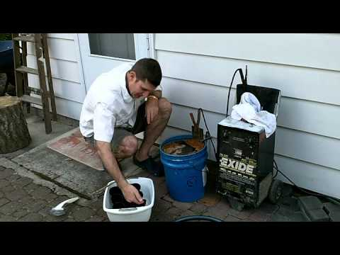 Cleaning Cast Iron with Electrolysis
