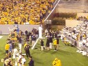 WVU vs Auburn 2008-Ryan Boyd does YMCA and Kickoff