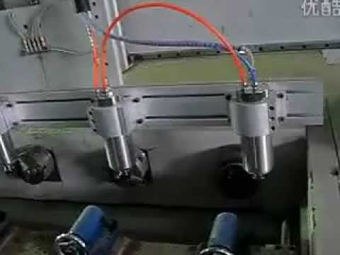 Hight precision Multi heads woodworking cnc machine for 3d engraving.flv