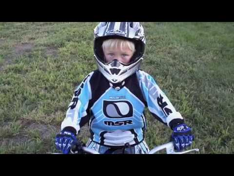 Cades first ride on yamaha PW50 Video