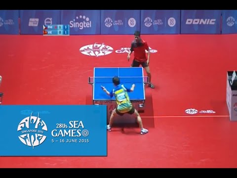 Table Tennis Men's Singles Philippines vs Vietnam | 28th SEA Games Singapore 2015