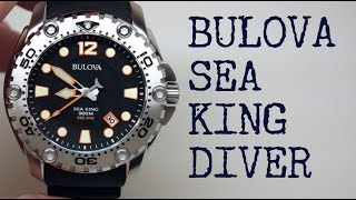 Bulova Sea King Diver Watch Review Model: 96B228