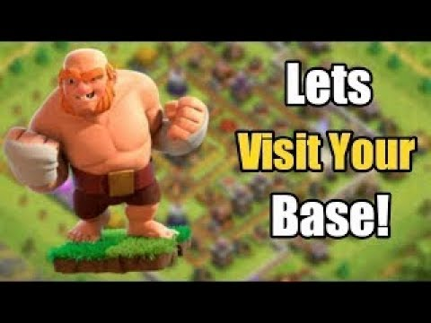 Let's play coc and visiting bases !!! base reviews   clash of clans