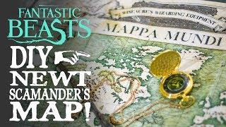 Newt Scamander's Map - Mappa Mundi! Fantastic Beasts DIY