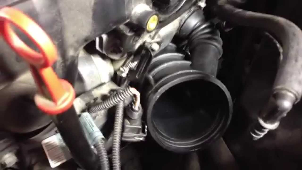 bmw e46 intake boot  throttle body  idle control valve