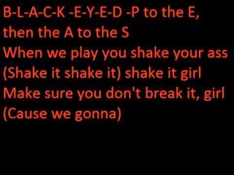 Black Eyed Peas - Pump it lyrics