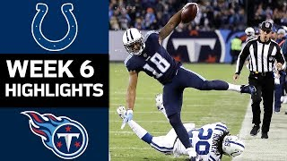 Colts vs. Titans  NFL Week 6 Game Highlights