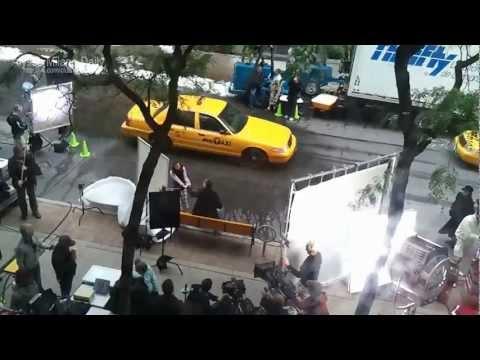Alyssa Milano on the set of her movie - Sundays at Tiffany's.mp4