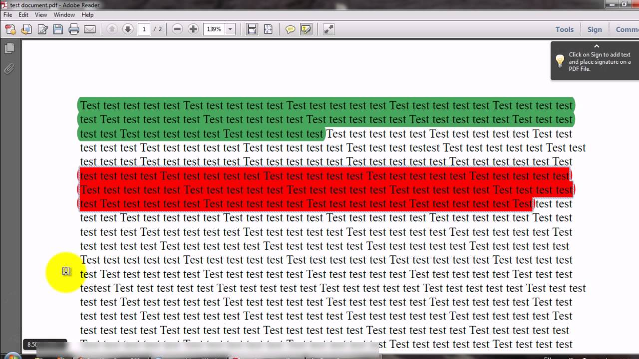 Highlight Text In Different Colors In Adobe PDF Reader