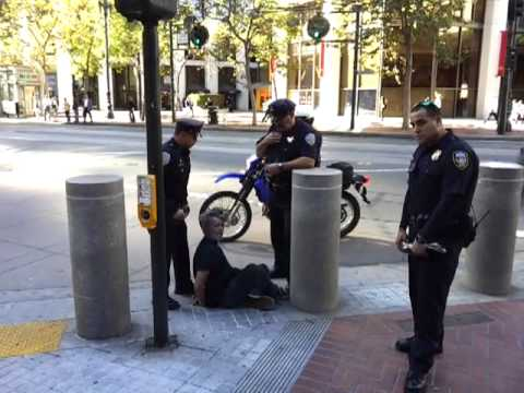 #OSF member Mic brutally assaulted by SFPD for littering! #J1L #OSFTV #ICM3