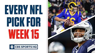 Brady Quinn and Pete Prisco make EVERY WEEK 15 NFL Pick | CBS Sports HQ