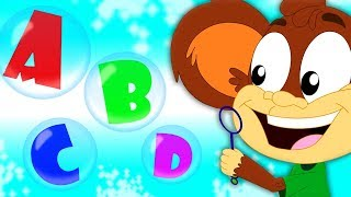 ABC Song   Monkey Rhymes   Preschool Learning Videos For Children by Kids Baby Club