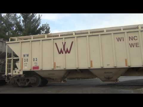The Winchester &amp; Western WST (Winchester Secondary Track) train runs from Hagerstown, Maryland to Martinsburg, WV , and ends at the CSX Yard in Winchester, V...