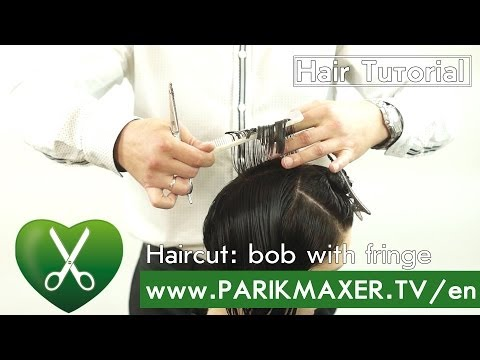 Haircut: bob with fringe. Evgeniy Stepanov.parikmaxer tv english version