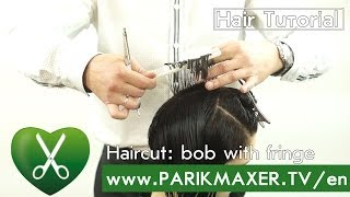 Haircut: bob with fringe parikmaxer tv english version