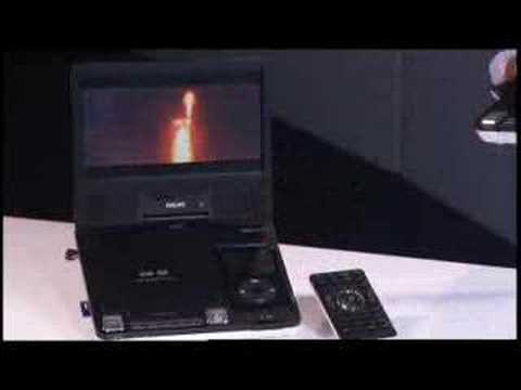 Philips Portable DVD player with iPod Dock